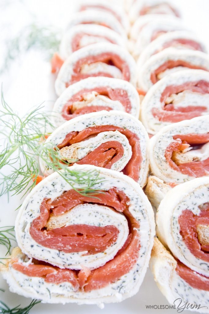 Smoked Salmon Roulade (Low Carb, Gluten-free)