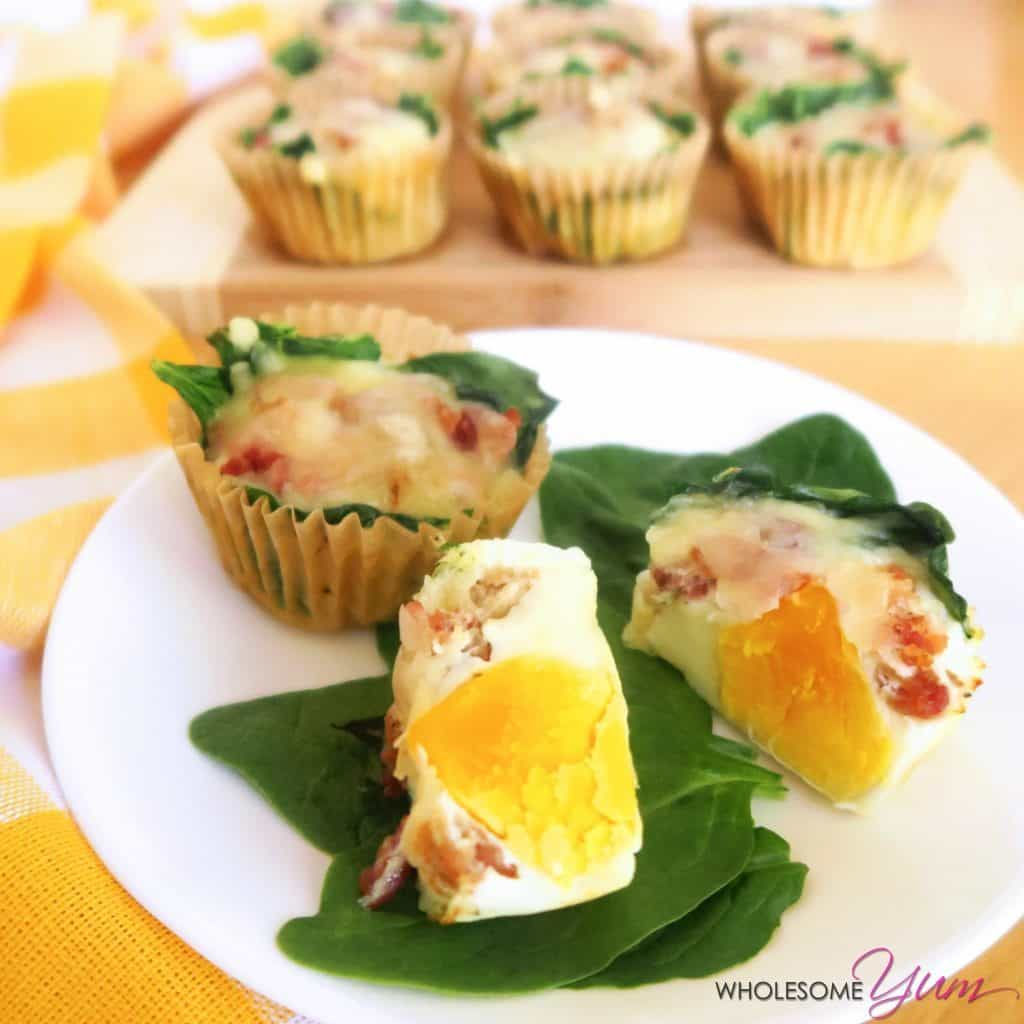 Low Carb Egg Muffins Recipe With Spinach & Cheese (glutenfree)  This
