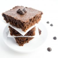 7-Ingredient Fudgy Low Carb Brownies with Almond Butter (Paleo, Gluten-free) - These easy, fudgy low carb brownies are made with almond butter and completely flourless. Naturally paleo, gluten-free & made with 7 simple ingredients.