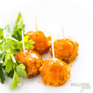 Low Carb Keto Buffalo Chicken Meatballs Recipe