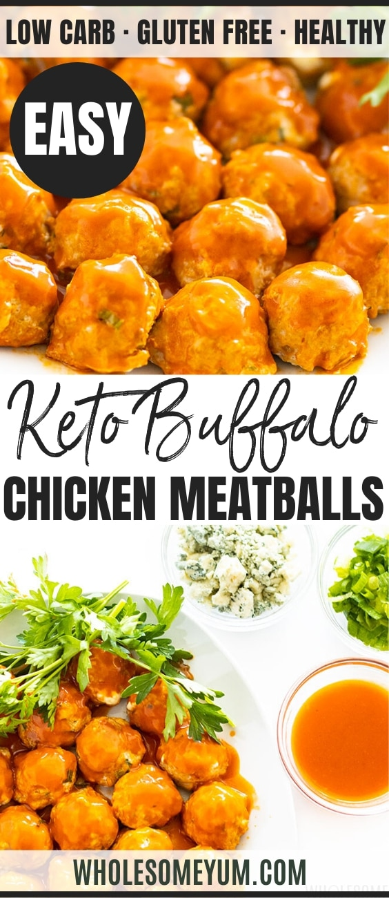 low carb buffalo chicken meatballs - pinterest