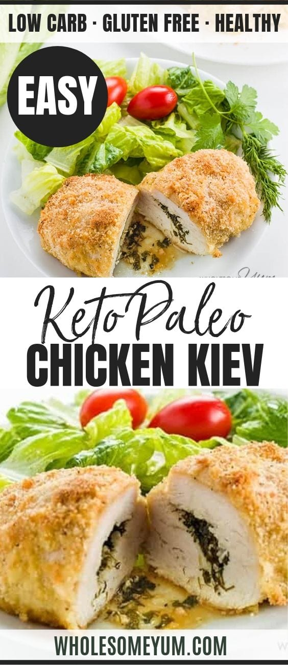 Easy Baked Chicken Kiev - Pinterest image