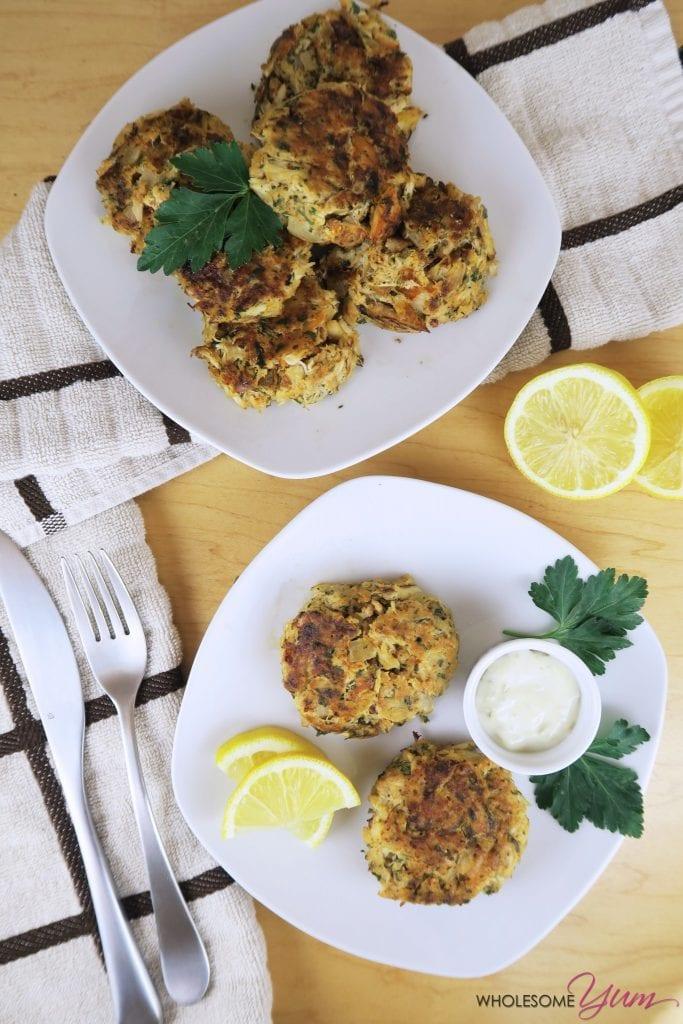 Gluten-free Low Carb Crab Cakes Recipe (Paleo)