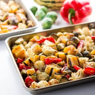 Easy Truffle Roasted Low Carb Veggies (Paleo, Gluten-free)