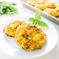 Pumpkin Basil Cheese Biscuits (Low Carb, Gluten-free) - These savory, cheesy pumpkin basil biscuits are the perfect fall snack or meal addition. Low carb and gluten-free!