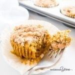 Pumpkin Pie Cupcakes with Crumble Topping (Paleo, Low Carb) - These low carb, paleo pumpkin pie cupcakes are like mini pumpkin pies topped with cinnamon crumbles. Gluten-free, dairy-free, nut-free, and so easy!