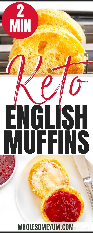 Low carb English muffin recipe pin