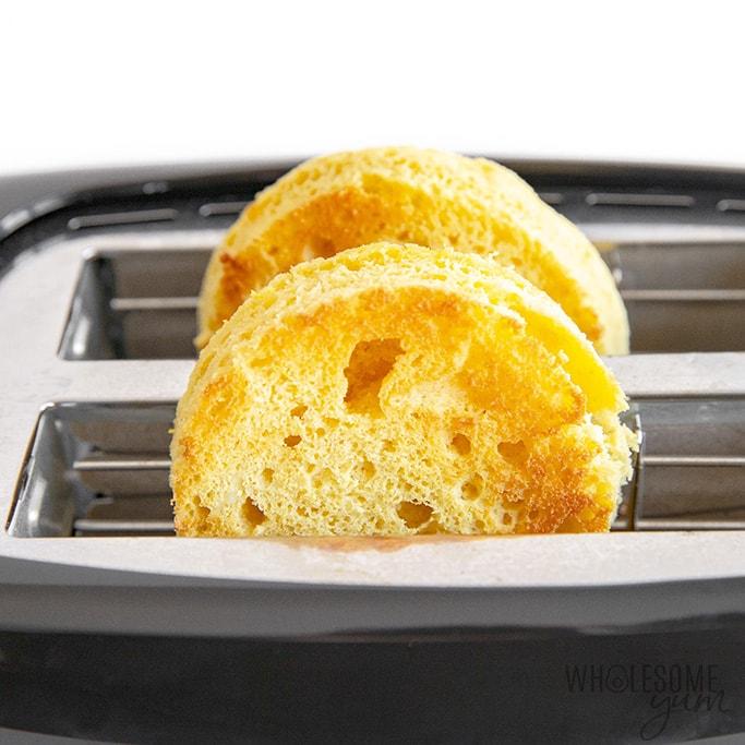 Toasted keto English muffin