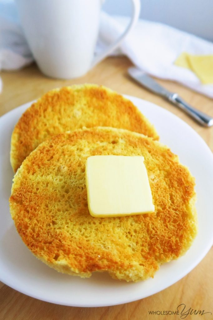 2 Minute Low Carb English Muffin Paleo Gluten Free