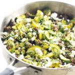 zucchini stir fry in pan