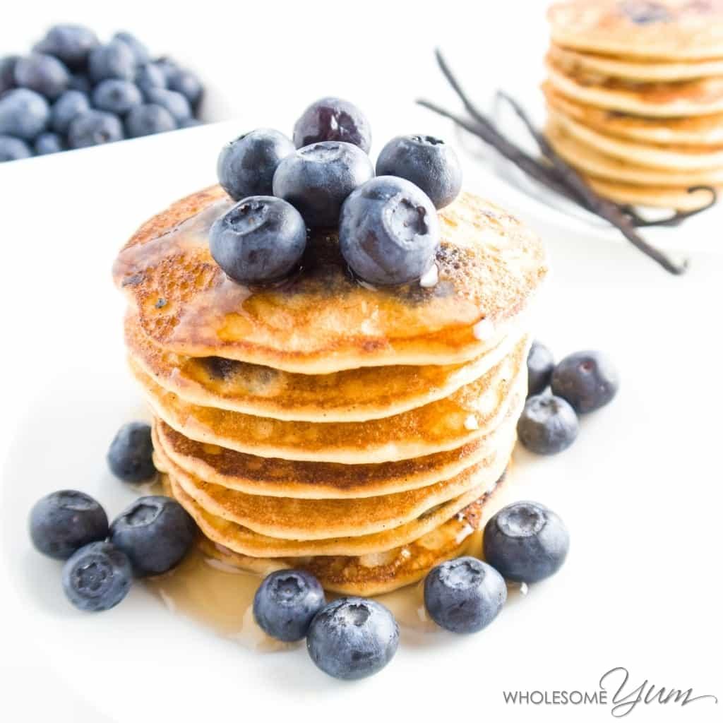 Healthy Blueberry Pancakes No Flour