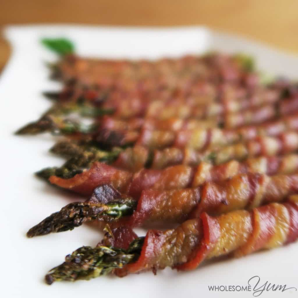 Crispy Bacon Wrapped Asparagus (Paleo, Low Carb