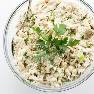 Easy Chicken Salad with Herbs (Paleo, Low Carb)