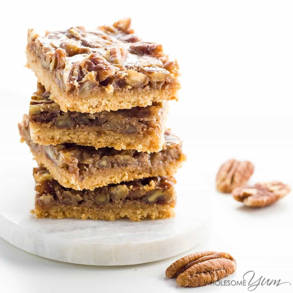 Paleo Pecan Pie Bars (low Carb, Glutenfree)  These Healthy Pecan