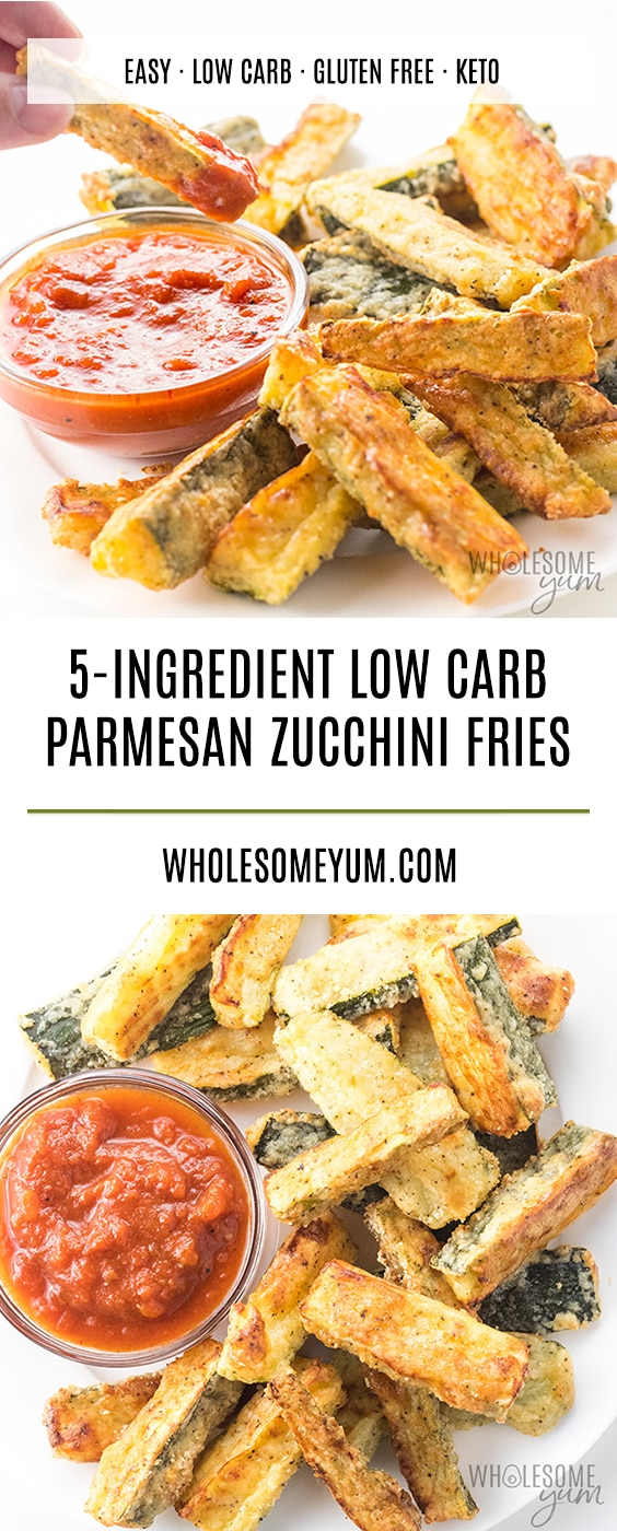 Crispy baked Parmesan zucchini fries recipe