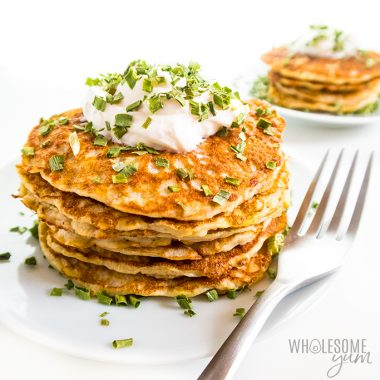 stack of healthy zucchini pancakes