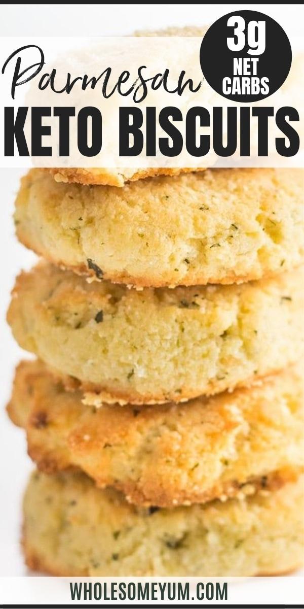 Easy Garlic Parmesan Keto Biscuits Recipe (Gluten-Free)