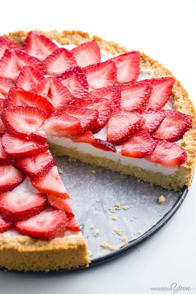 Easy Strawberry Tart Recipe (Paleo, Low Carb, Sugar-free