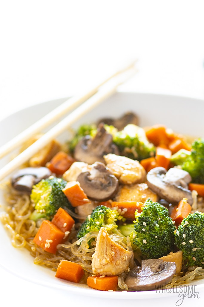 kelp noodles recipe with chicken and veggies
