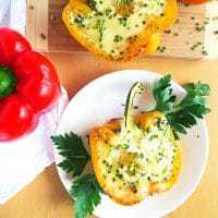 Cheesy Egg-Stuffed Peppers (Low Carb, Gluten-free) | Wholesome Yum