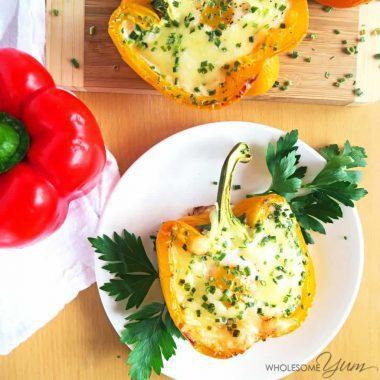 Breakfast Stuffed Peppers (Low Carb, Gluten-free)