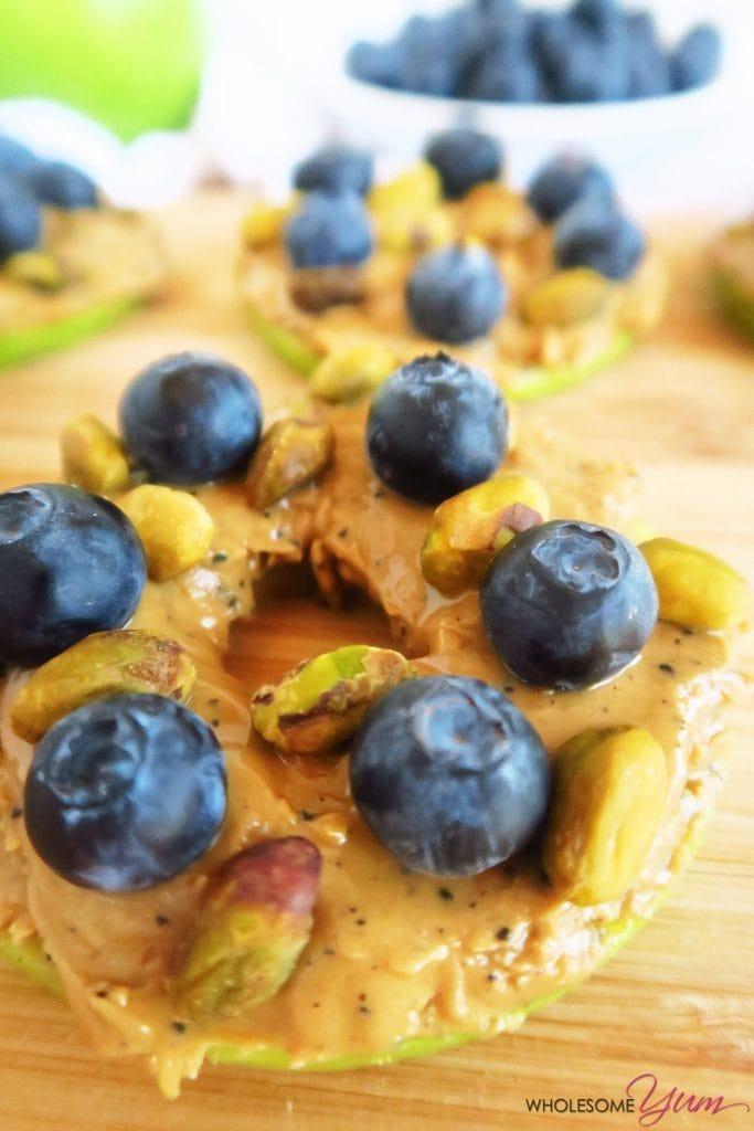 Blueberry Pistachio Apple Sandwiches (Paleo, Low Carb)