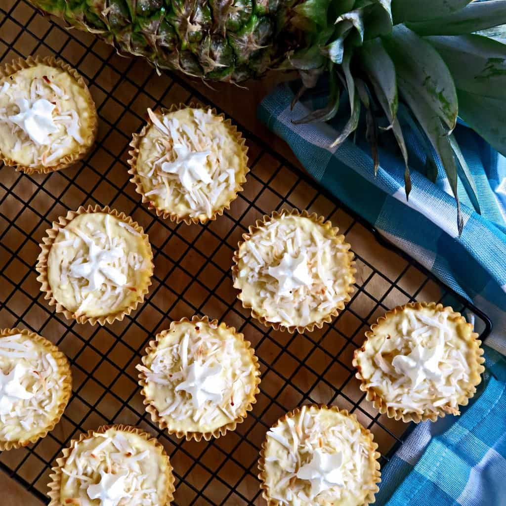 Cheesecake Cupcakes Recipe - Piña Colada Cupcakes (Low Carb, GF)