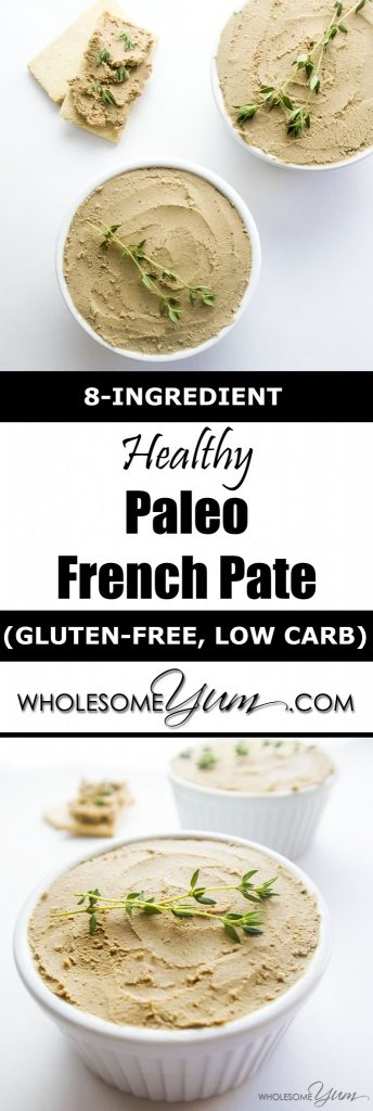 How To Make Chicken Liver Pate (Paleo, Low Carb Recipe) - Learn how to make chicken liver pate with this healthy, easy pate recipe. Easy and extra creamy, thanks to a secret ingredient!