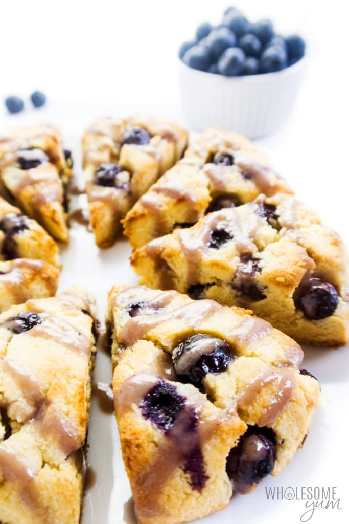 low carb scones with blueberries