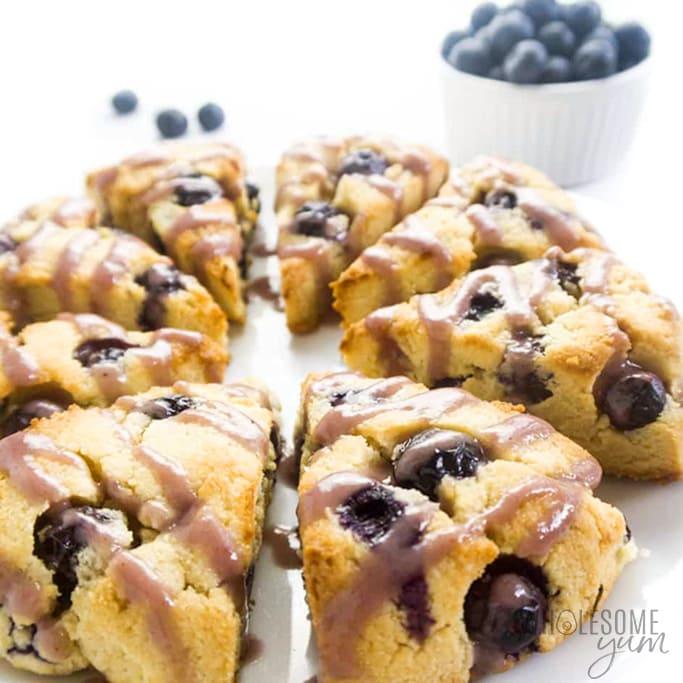 keto scones recipe with blueberries