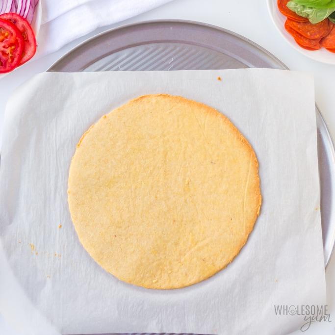 baked almond flour pizza crust