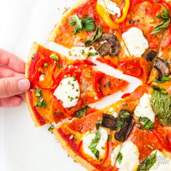 low carb pizza crust with toppings