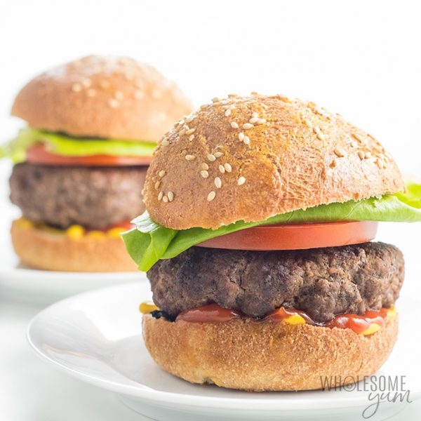 The Best Juicy Burger Recipe on the Stove Top or Grill (+ Tips!) - Learn how to make juicy burgers on the stove or on the grill, perfectly every time. This juicy burger recipe makes the best grill or stovetop burgers, thanks to 2 secret ingredients, plus prep & cooking tips!