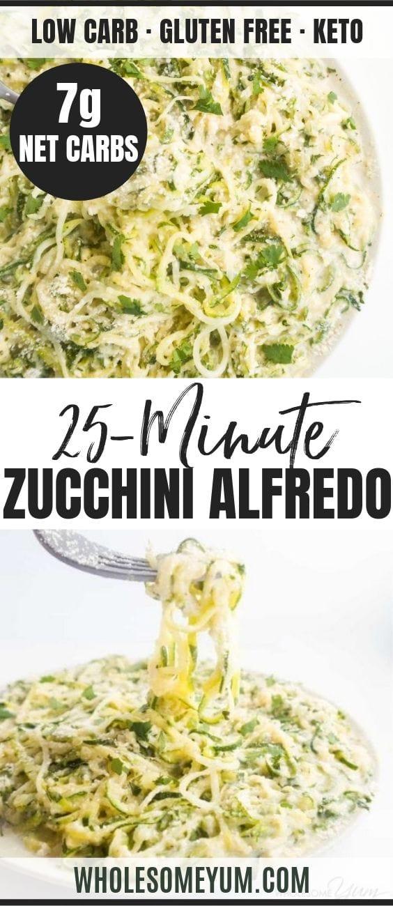 zucchini noodles Alfredo - pinterest