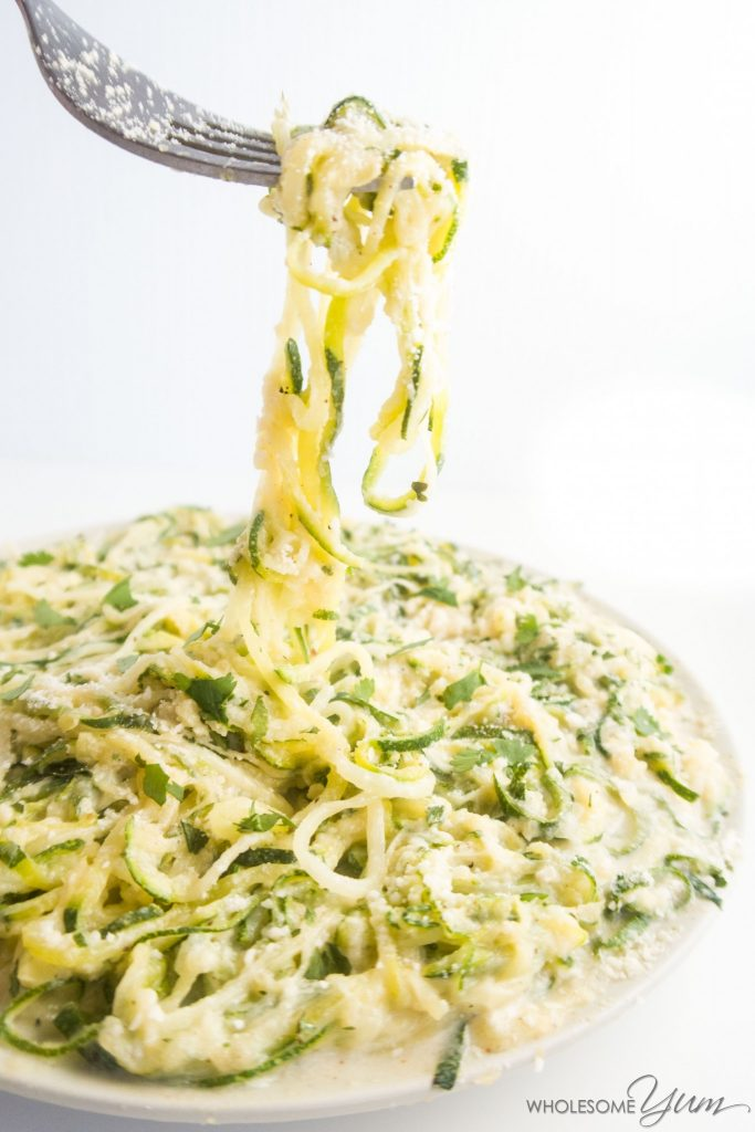 keto zoodle recipes with creamy alfredo sauce