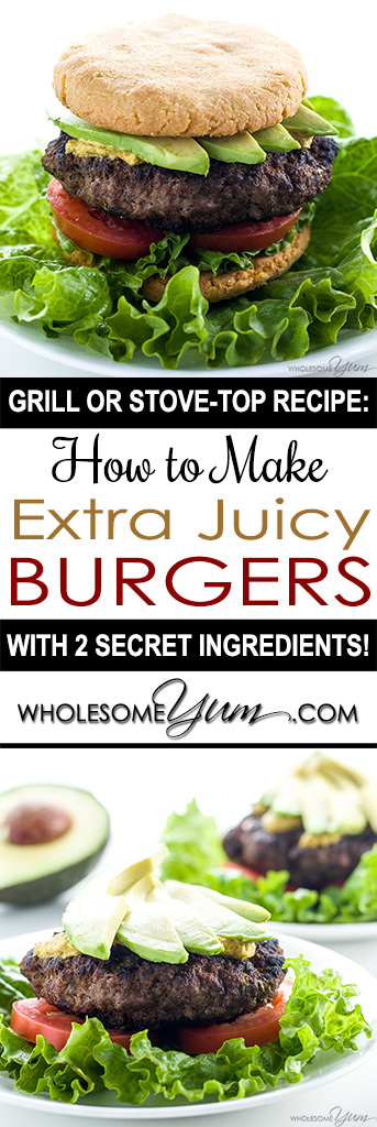 The Best Juicy Burger Recipe On The Stove Top Or Grill Tips