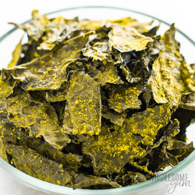 kale chips recipe keto Homemade Baked Kale Chips Recipe (2 Flavors!)  Wholesome Yum