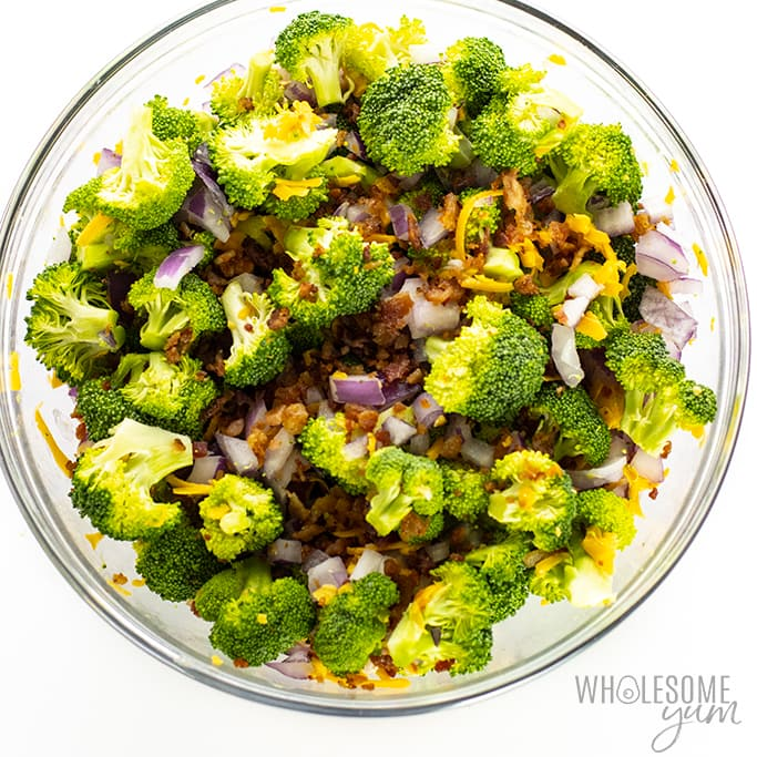 low carb broccoli salad ingredients