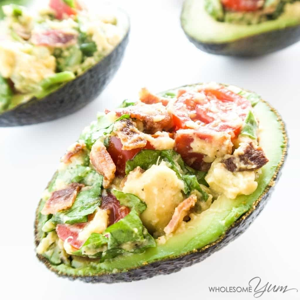 Blt Stuffed Avocado (paleo, Low Carb)  These Stuffed Avocados Are Packed  With