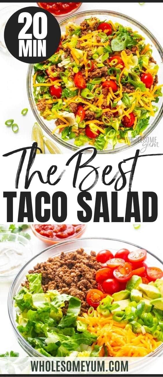 The best taco salad recipe pin