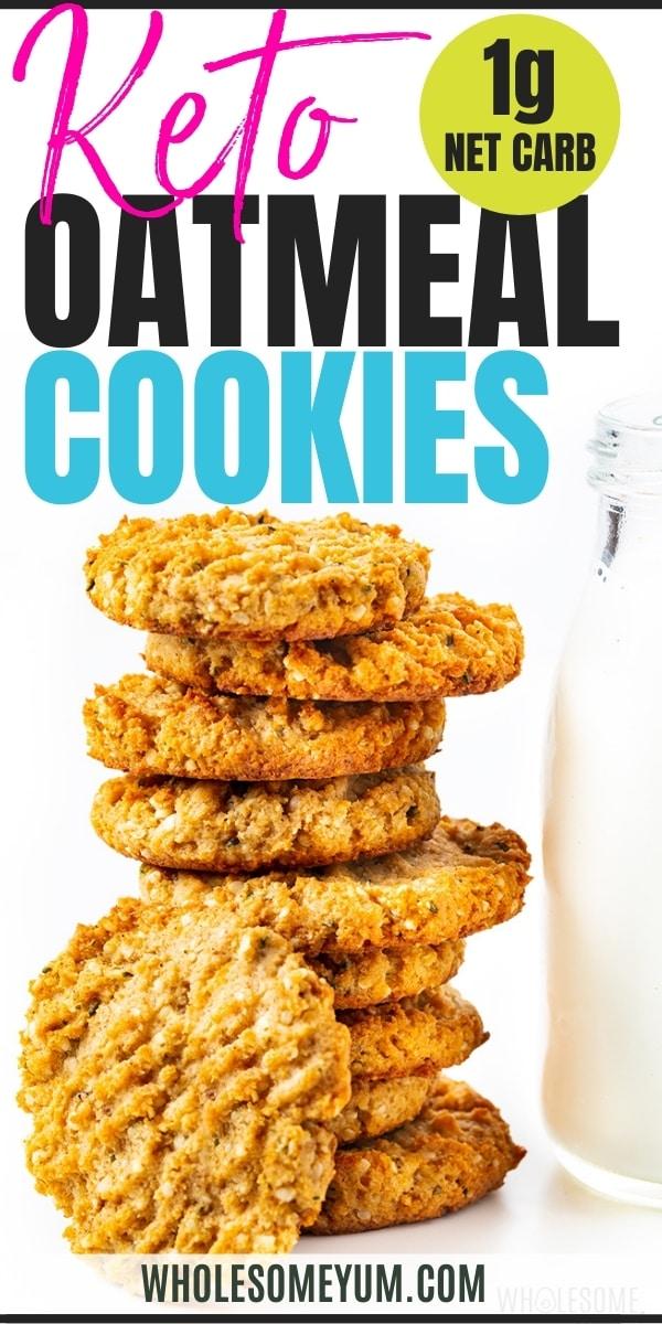 Keto oatmeal cookies recipe pin