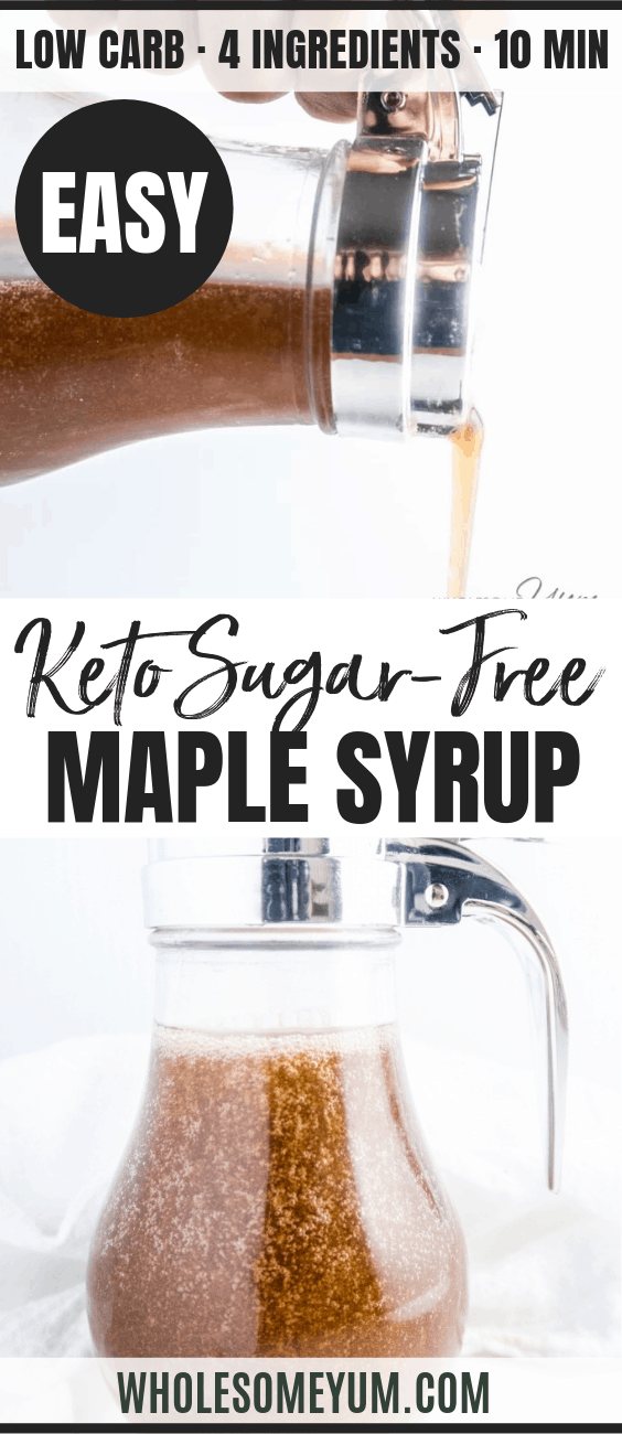 Keto Low Carb Sugar Free Maple Syrup Recipe 4 Ingredients