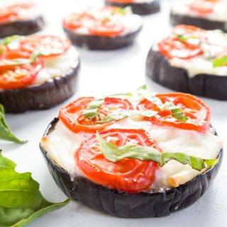 Low Carb Eggplant Pizza – Margherita Style (Gluten-free)