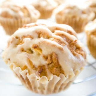 Sugar-free Apple Muffins with Salted Caramel (Low Carb, Gluten-free)