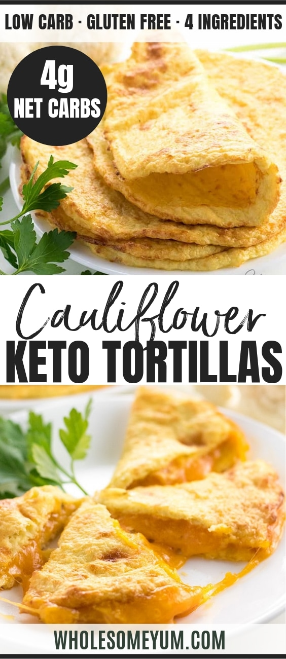 Cauliflower Tortillas - Pinterest image
