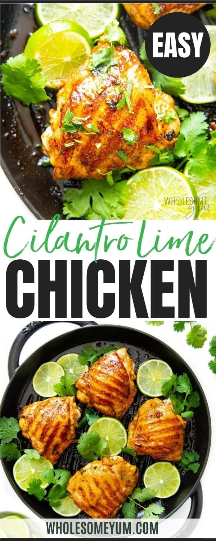 Cilantro lime chicken recipe pin