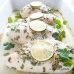Creamy Cilantro Lime Chicken (Paleo, Low Carb) - This creamy, tangy cilantro lime baked chicken is an easy dinner that's ready in just 30 minutes. Low carb, gluten-free, paleo, THM S, and whole 30 approved.