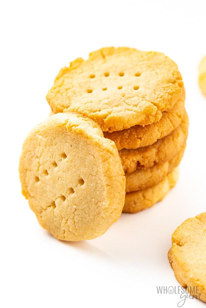 stack of gluten-free shortbread cookies