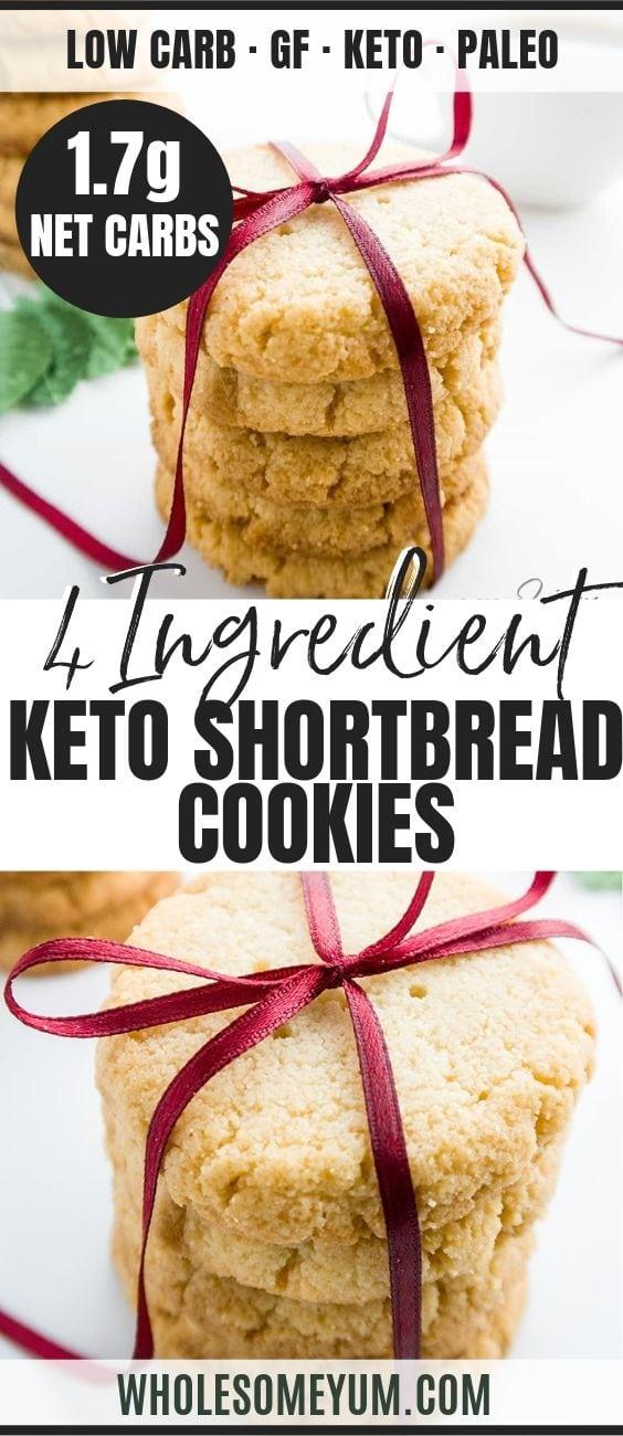 Low Carb Shortbread Cookies - Pinterest image