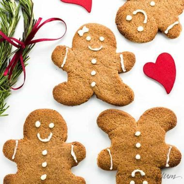 Sugar-free Gingerbread Cookies (Low Carb, Paleo) - This sugar-free gingerbread cookies recipe uses just 5 ingredients plus a few spices. It's also low carb, paleo, and gluten-free. Detail: sugar-free-gingerbread-cookies-low-carb-paleo-1